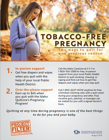 Project Filter Tobacco Free Pregnancy Tear-Away Pad