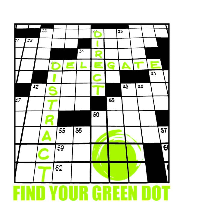 Green Dot Call Out Card - Crossword Puzzle