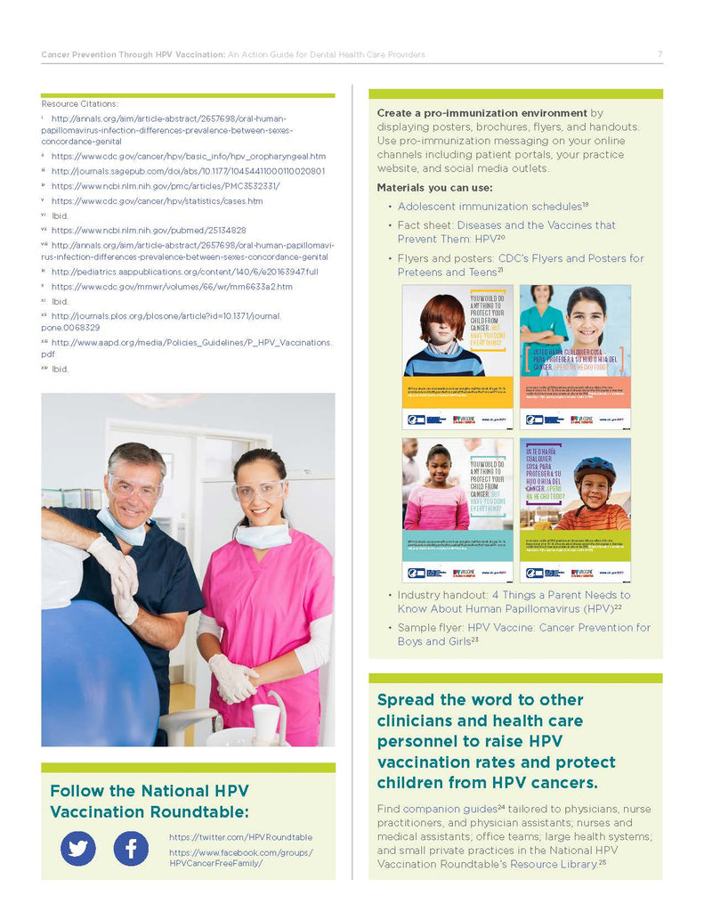 Cancer Prevention Through HPV Vaccination- An Action Guide