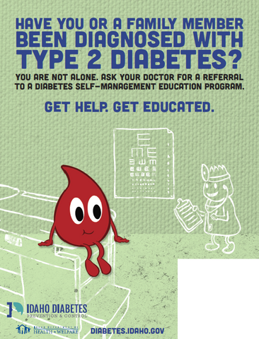 Diabetes Self-Management Education 8.5 X 11 - Flyers Ship in Packages of 25, Max 4 Per Order