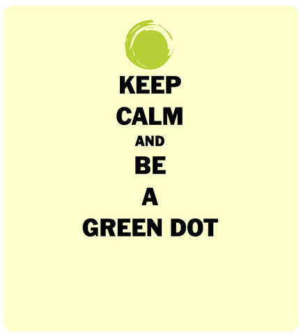 Green Dot Call Out Card - Keep Calm