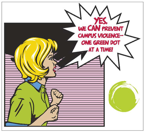 Green Dot Call Out Card - Comic Strip