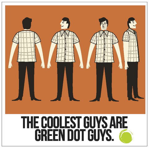 Green Dot Call Out Card - Coolest Guys