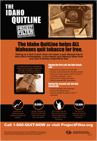 Project Filter - Idaho QuitLine Poster