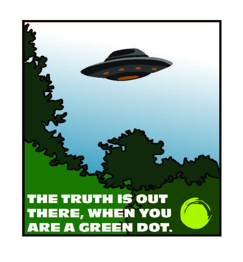 Green Dot Call Out Card - X-Files