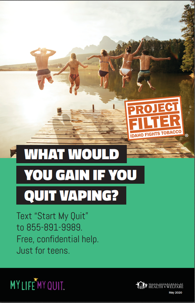 Project Filter My Life My Quit Poster - What would you gain?