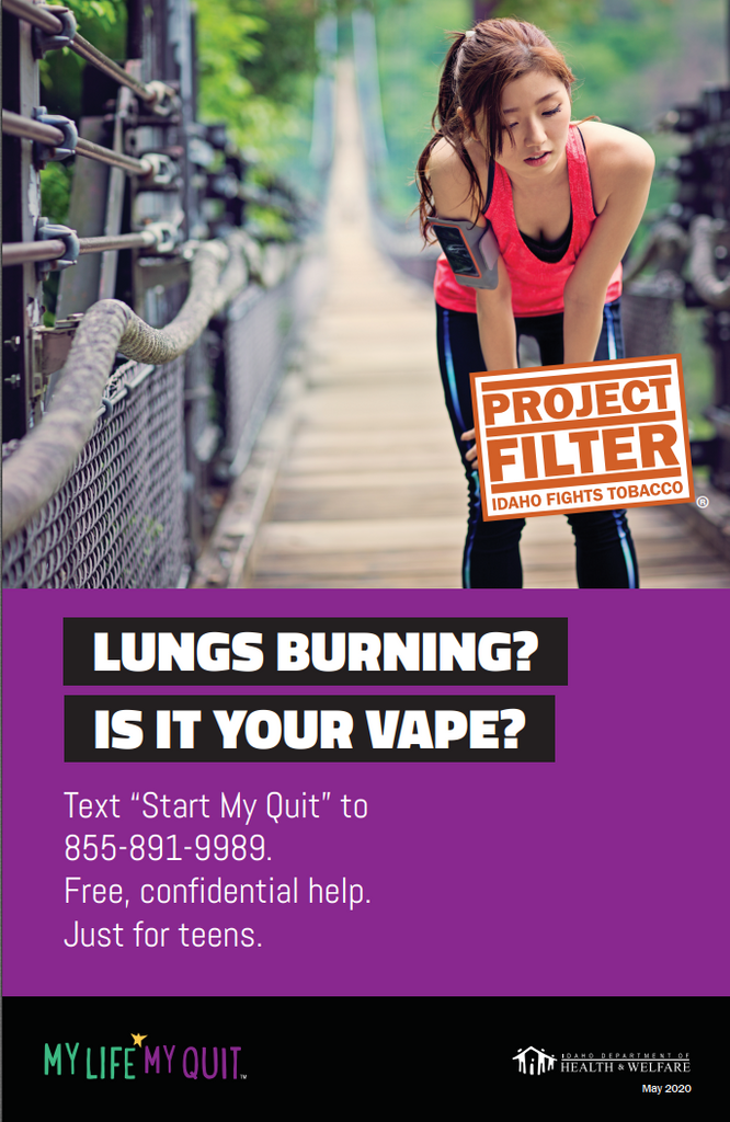 Project Filter My Life My Quit Poster - Lungs Burning?