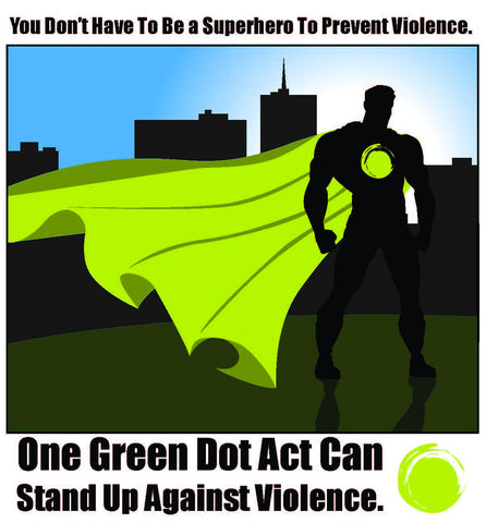 Green Dot Call Out Card - Male Superhero