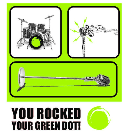 Green Dot Call Out Card - Music