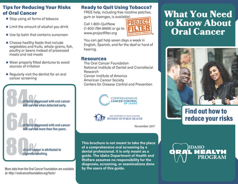 Oral Health Cancer Brochure