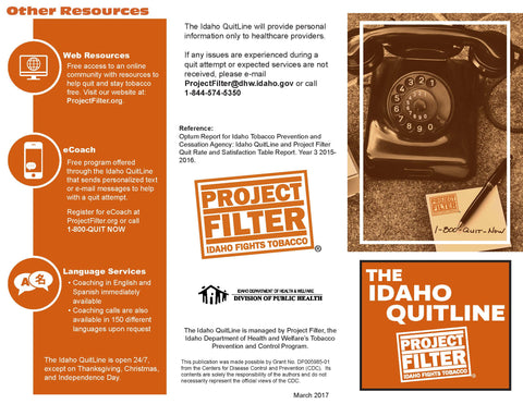 Idaho QuitLine Patient Brochure
