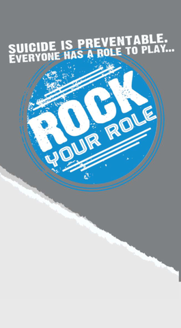 """Rock Your Role"" Suicide Prevention Table Tent"