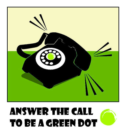 Green Dot Call Out Card - Telephone