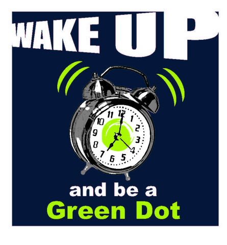 Green Dot Call Out Card - Alarm Clock