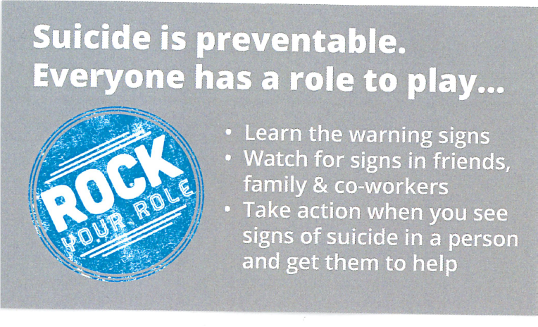 """Rock Your Role"" Suicide Prevention Wallet Card - English"