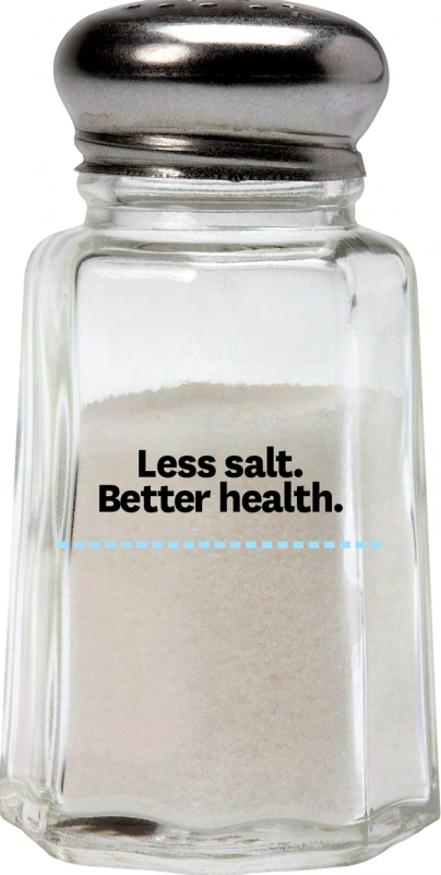 Less Salt, Better Health Brochure - Ships in Packages of 25, Max 4 Per Order