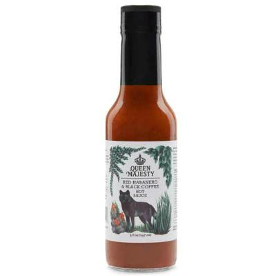 QUEEN MAJESTY, RED HABANERO & BLACK COFFEE Hot Sauce