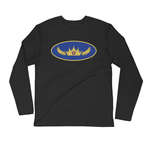 Mystery Queen Mens Superhero Long Sleeve Fitted Crew