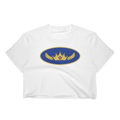 Mystery Queen Womens Superhero Crop Top