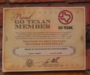 Great News - GO TEXAN certification!
