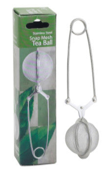 Stainless Steel Snap Mesh Tea Ball Infuser