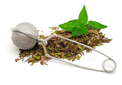 Stainless Steel Mesh Ball Tea Infuser with loose leaves