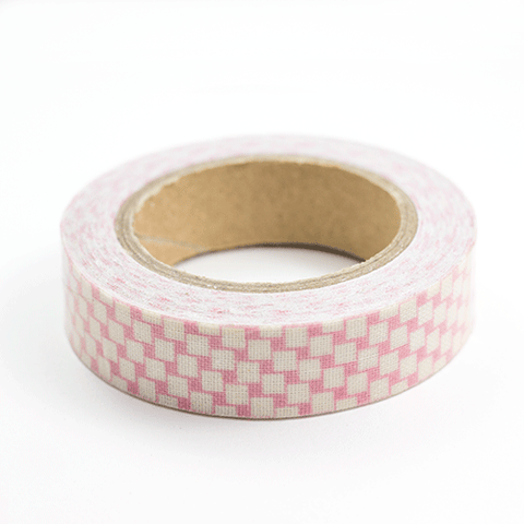 Fabric Tape cuadrados rosas - Sweetly Before