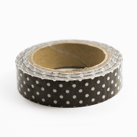Fabric Tape puntos chocolate - Sweetly Before