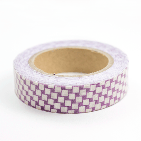 Fabric Tape cuadrados morados - Sweetly Before