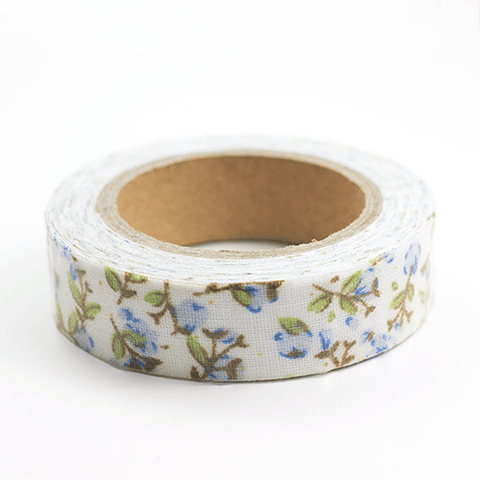 Fabric Tape flores azules - Sweetly Before
