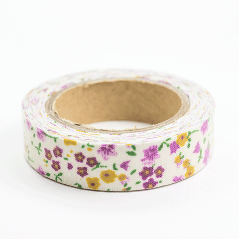 Fabric Tape flores fucsias - Sweetly Before