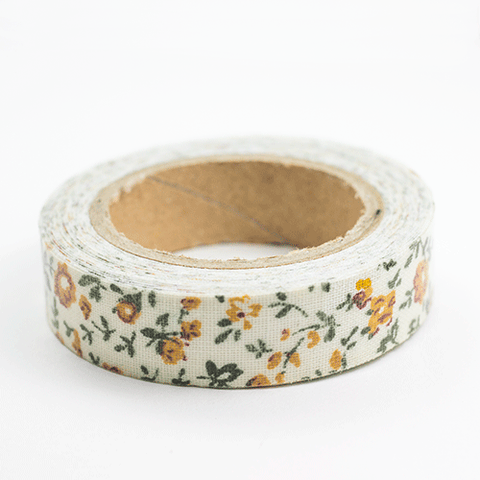 Fabric Tape flores naranjas - Sweetly Before