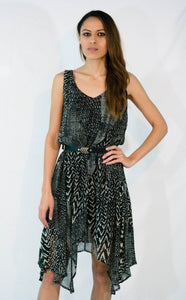 Black and Gray Style Dress