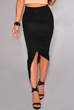 Black Asymmetrical Skirt