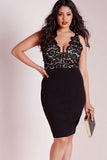Black Lace Mid Dress