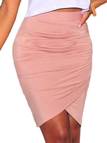 Pink Knee Length Skirt