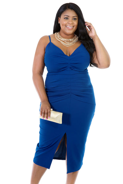 Blue Stretchable Dress