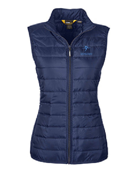 Vest: CORE 365 LADIES' PREVAIL PACKABLE PUFFER