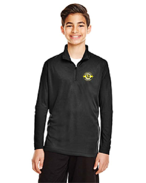 YOUTH Quarter Zip Pullover: Team 365 Zone Performance Zip