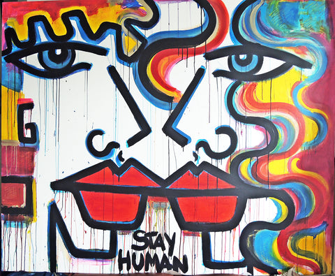 Stay Human Painting