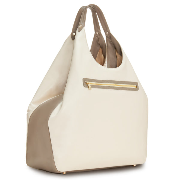 Cremini Heavyweight Triangle Top Tote