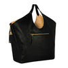 Black & Gold Heavyweight Triangle Top Tote