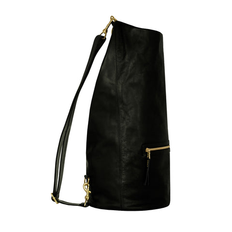 Black & Gold Welterweight Roll Top Duffel