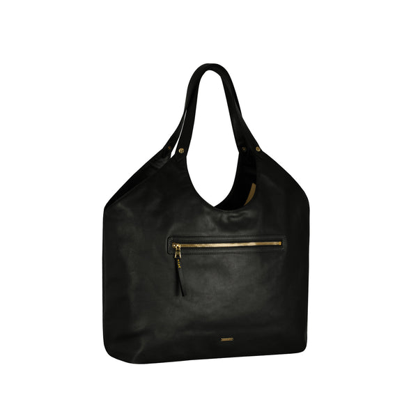 Black & Gold Welterweight Triangle Top Tote