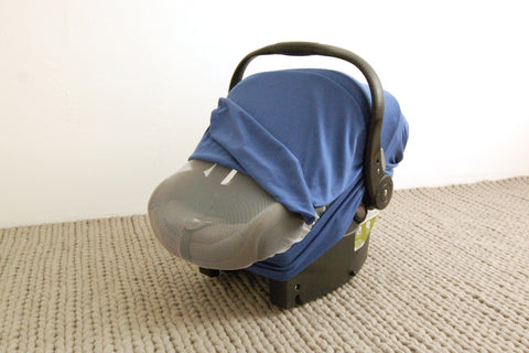 BABY BLUE Bug-Me-Not Infant Car Seat Cover