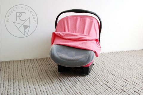 BUBBLEGUM PINK Bug-Me-Not Infant Car Seat Cover