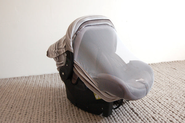 GREY OMBRE STRIPE | Bug-Me-Not Infant Car Seat Cover