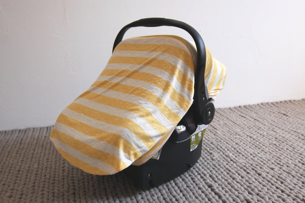 SUNSHINE STRIPE | Bug-Me-Not Infant Car Seat Cover