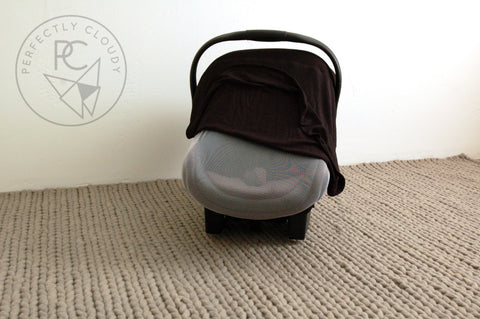 BLACK Bug-Me-Not Infant Car Seat Cover