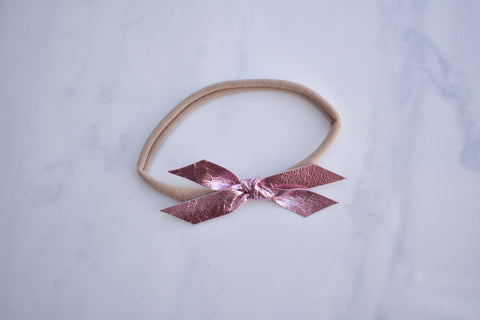 METALLIC PINK | mini Madeline bow